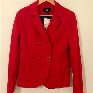 NWT Red H&M Jersey Blazer
